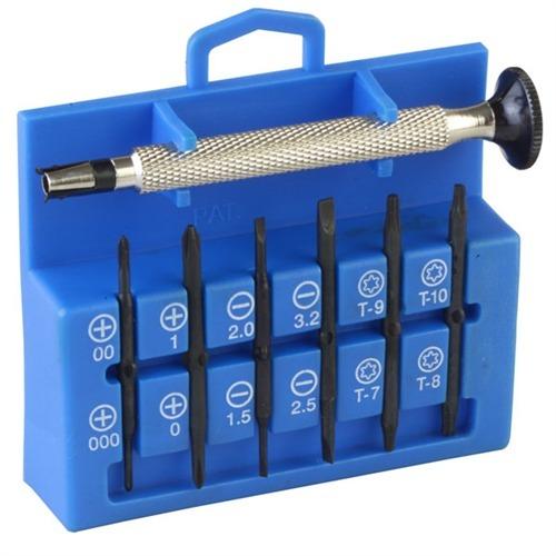 12 in 1 precision miniature screwdriver set miniature screwdriver kit brown. Black Bedroom Furniture Sets. Home Design Ideas