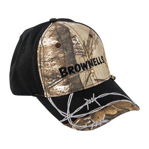 Realtree AP Xtra & Black Cap with Barbed Wire Embroidery