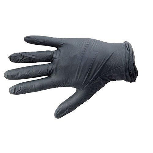 Black Nitrile Industrial Glove, Textured, Large