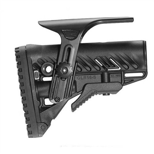 AR-15 GLR-16 Stock Collapsible Commercial BLK