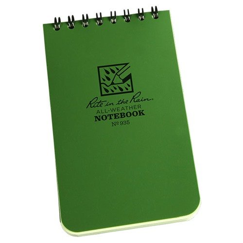 "3"" x 5"" Notebook, Green"