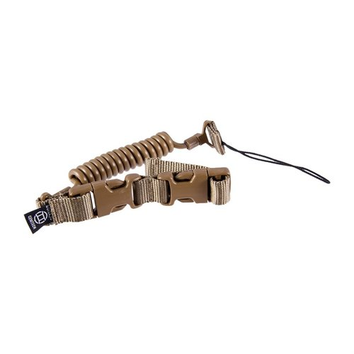 Tactical Retention Lanyard Pistol Leash-Coyote Brown