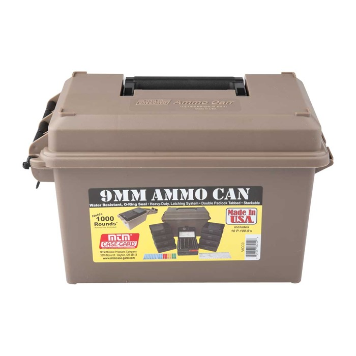 MTM Ammo Can 9mm Polymer Tan Brownells Sverige