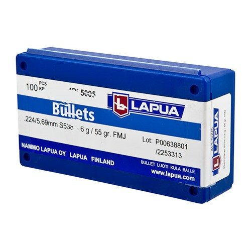 "22 Caliber (0.224"") 55gr Full Metal Jacket 100/Box"